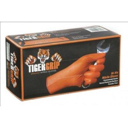 Tiger Grip Orange Nitrile Gloves - XXL (box 90pcs)