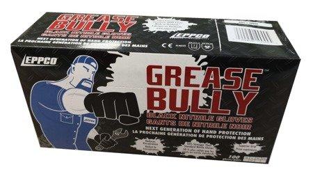 Rękawiczki nitrylowe Grease Bully M (pud. 100szt.) Czarne