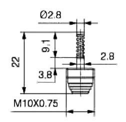 Wkład zaworu klimatyzacji M10x075